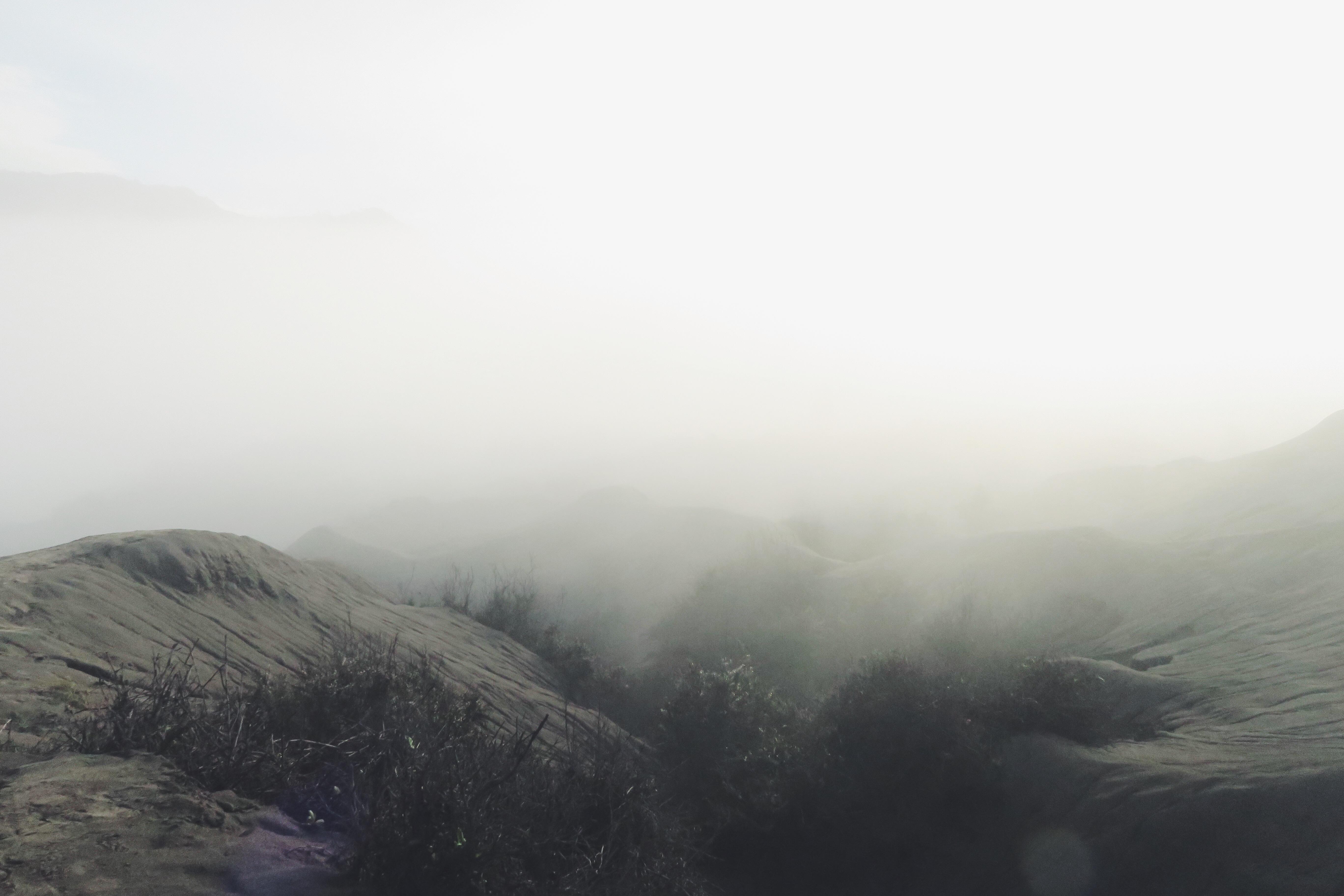 Bromo Nebel schwarz weiß