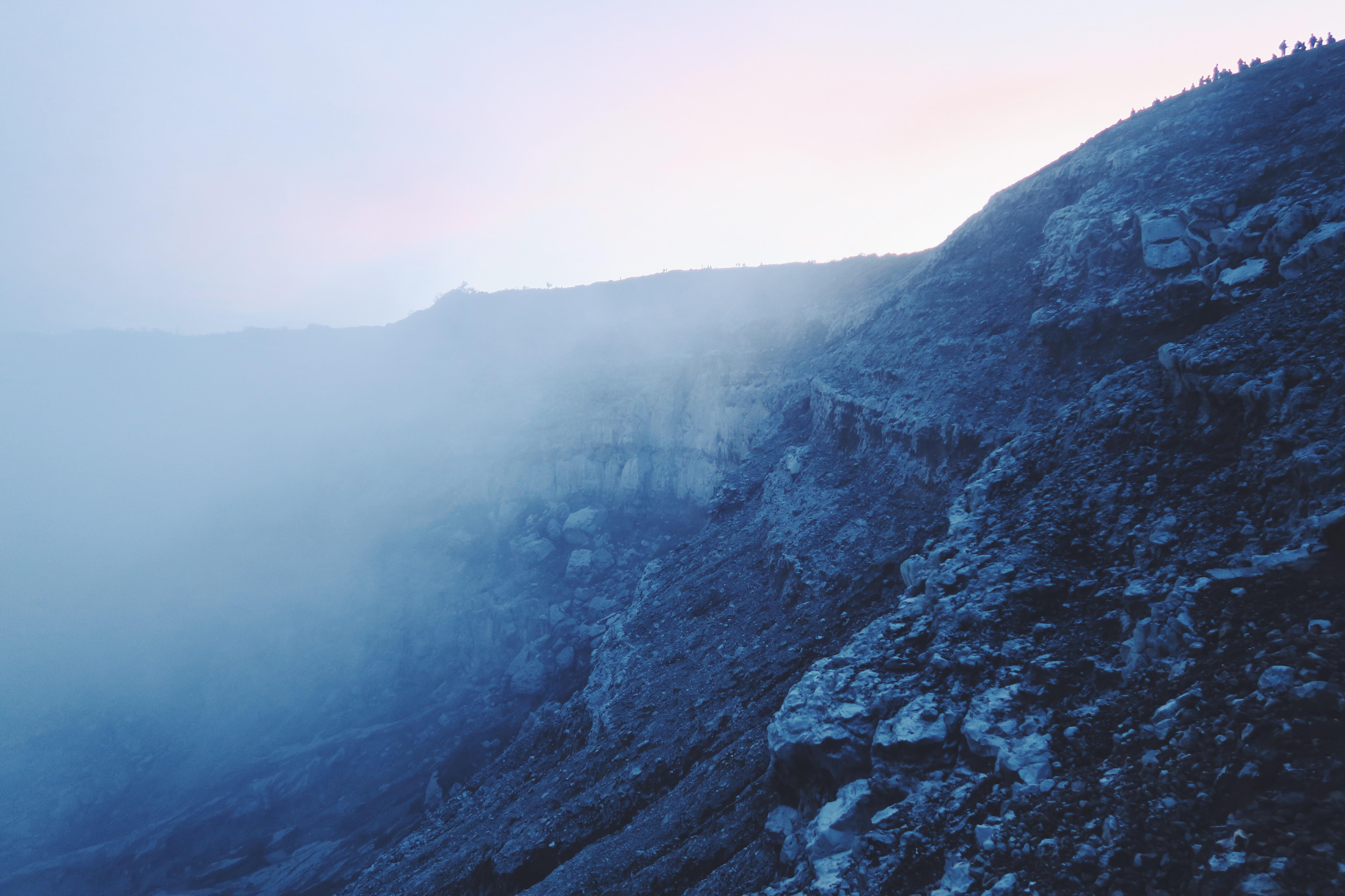 Ijen Seite Nebel